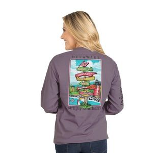 NWT Simply Southern Delaware Long Sleeve T shirt